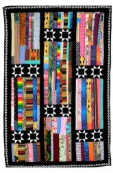 "Susan Thompson, ""What My Grandmother Taught Me,"" Pieced quilt, 58"" x 41"", 2000"