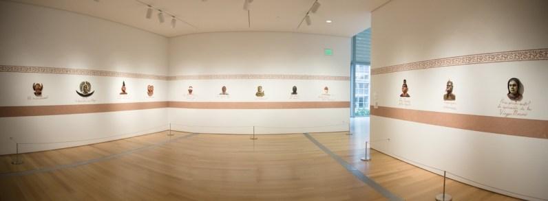 "Salvadore Jiménez-Flores, ""I Am Not Who You Think I Am"" (Installation), Porcelain, terra-cotta, oil, graphite, black stain, gold luster, and terra-cotta slip, 2014-15"