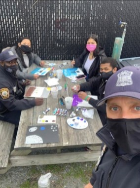 2021 Ubuntu Youth Arts, Chelsea Police Department + GreenRoots, Group Photo at Work