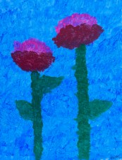 "N.M., ""Growing Through It,"" Painting, 16"" x 20,"" 2021PG"