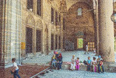 """Walter Crump, """"Mosque Families, Istanbul,"""" Archival inkjet print, 2021"""