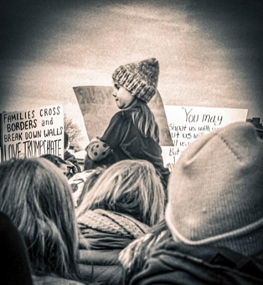 "Walter Crump, ""Women's March Boston,"" Archival inkjet print, 2017"