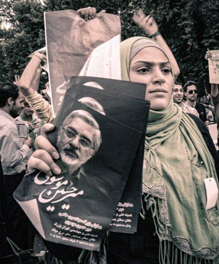 "Walter Crump, ""Reformist Rally, Tehran,"" Archival inkjet print, 2009"