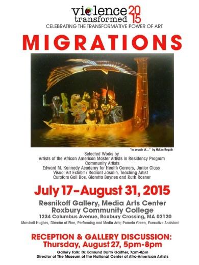 2015 Exhibition Poster, Roxbury Community College