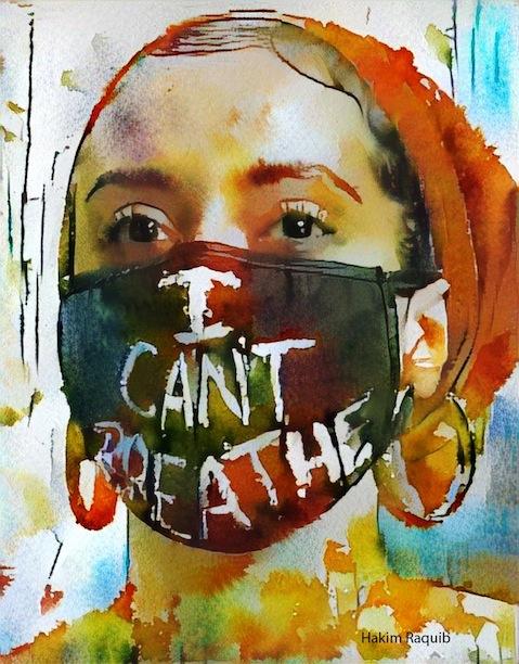 "Hakim Raquib, ""I Can't Breathe,"" Digital photography, 2020"