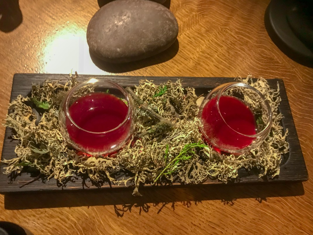 Beetroot fermented crab apple