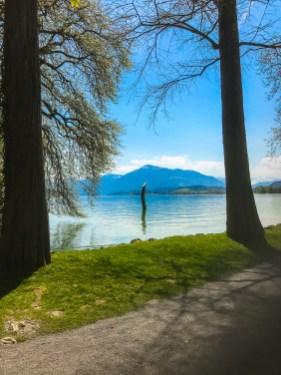 Modern art at Lake Zug