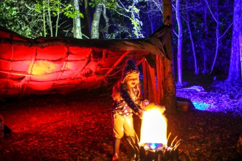 One of the kid friendly mock campfires at Magical Woodland https://www.magicalwoodland.com