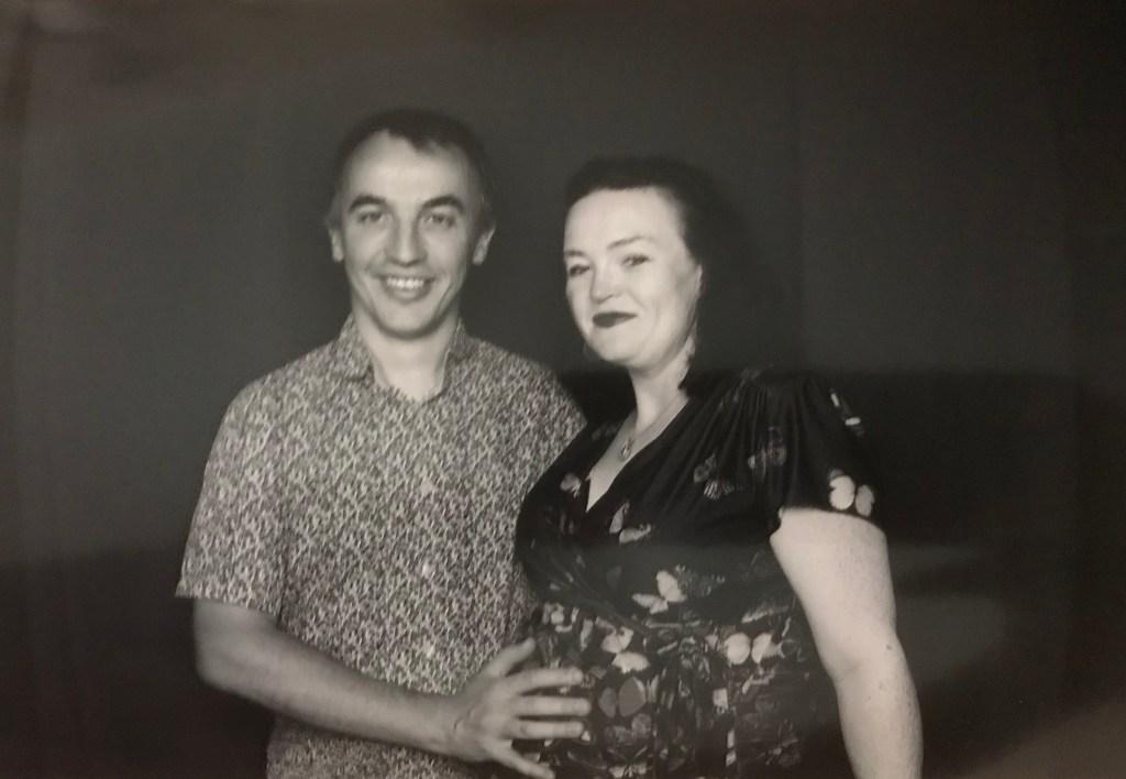 36 weeks pregnant with Aurora at my friends wedding. Violet Skies.
