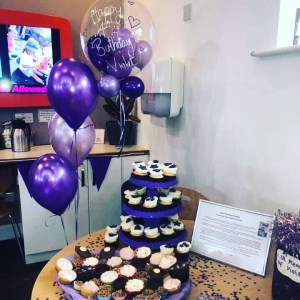 Cakes at nursery for birthday