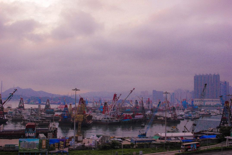 Violet-Sunset-HKG-Harbour-Violet-Skies