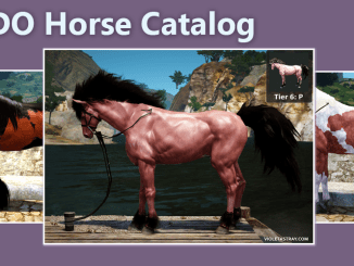 BDO Horse Catalog of every Tier and color