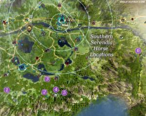 BDO Southern Serendia Horse Locations Map