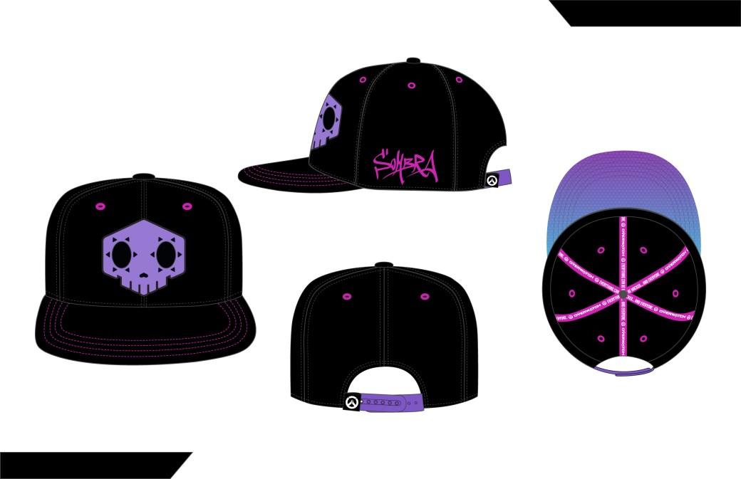 a35866139a2 One of my all-time favorite designs I was lucky enough to create during my  time at J!NX for Overwatch! Here is the Sombra snapback – available at  www.jinx. ...