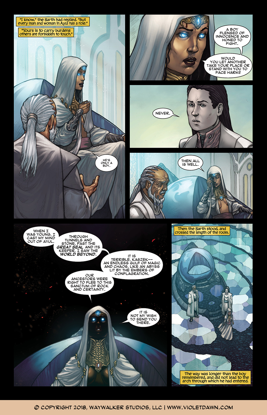 Violet Dawn: Exile – Issue 1, Page 8