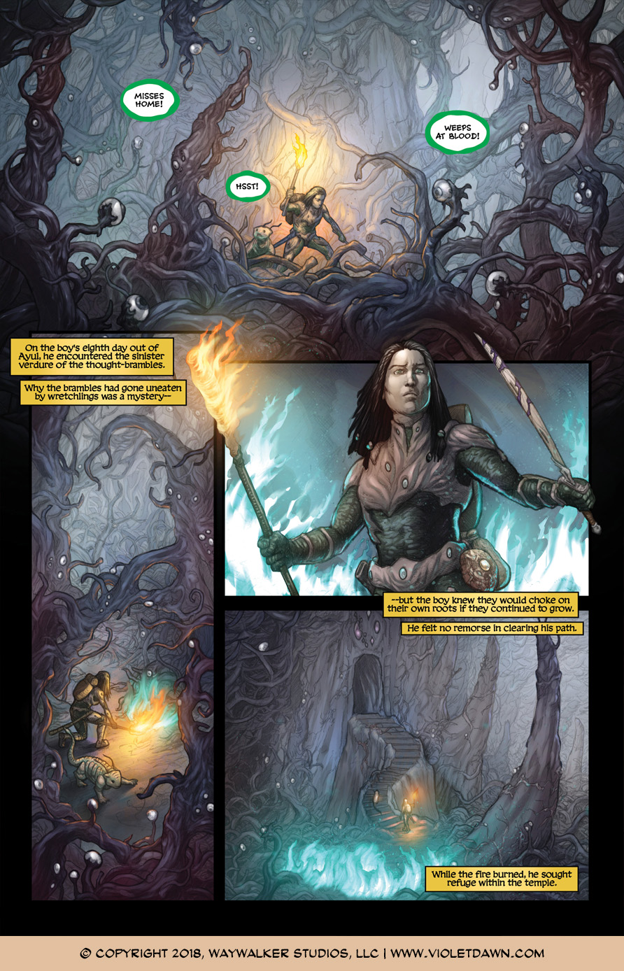 Violet Dawn: Exile – Issue 2, Page 1