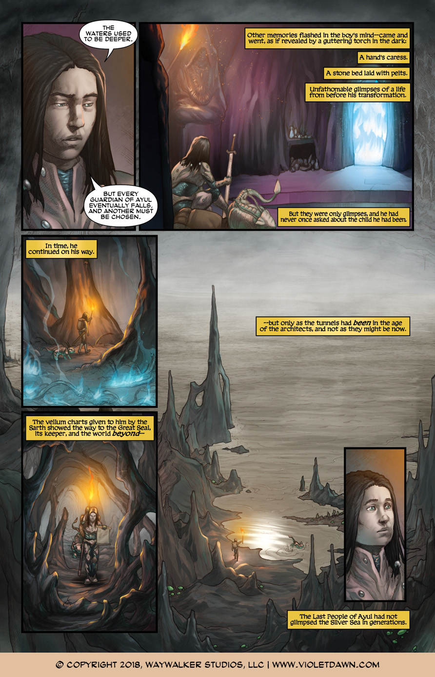 Violet Dawn: Exile – Issue 2, Page 4