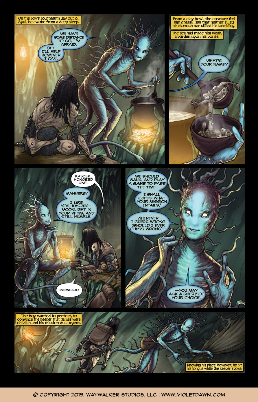 Violet Dawn: Exile – Issue 3, Page 3