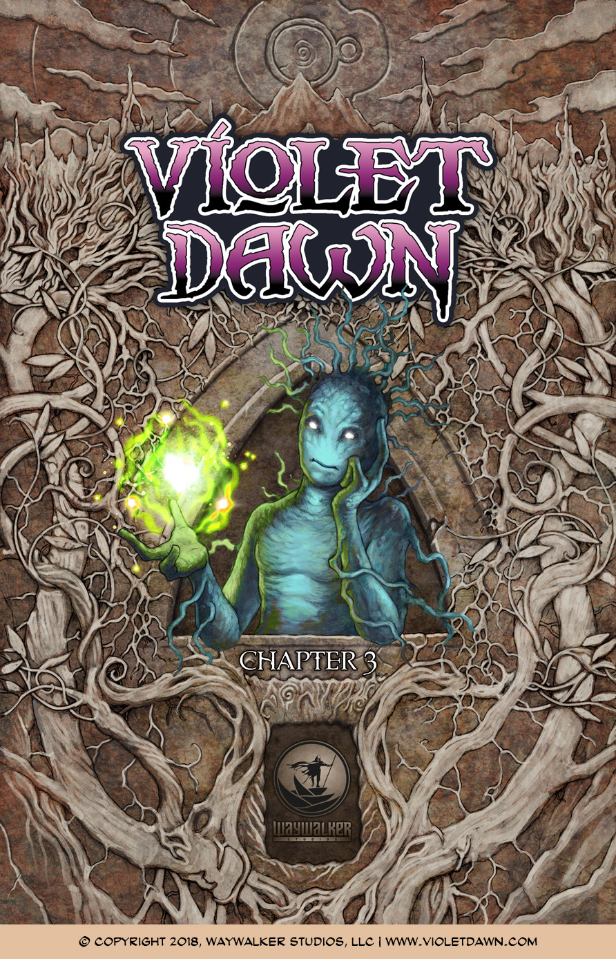 Violet Dawn: Exile – Issue 3, Cover