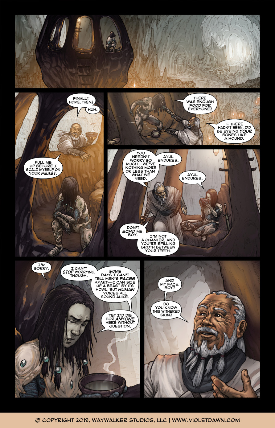Violet Dawn: Exile – Issue 4, Page 3