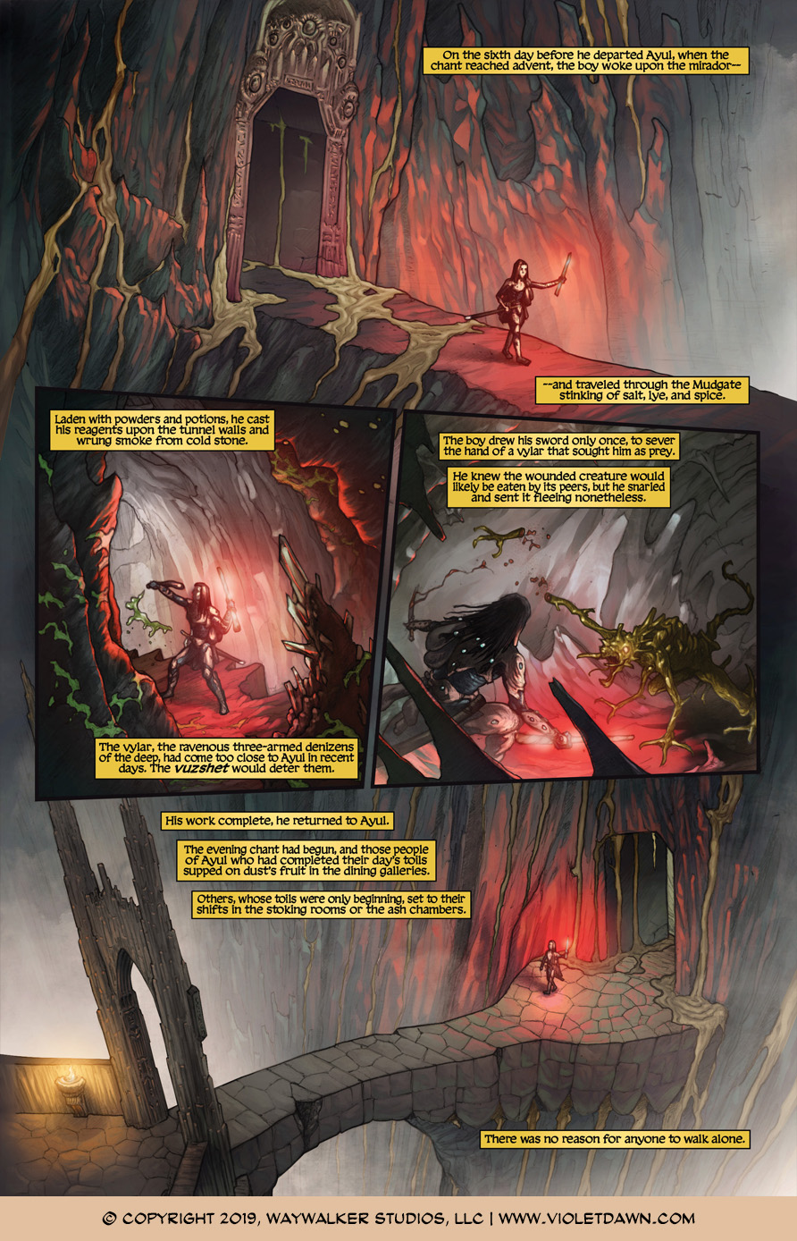 Violet Dawn: Exile – Issue 4, Page 1