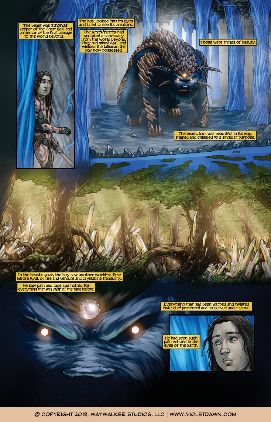 Violet Dawn: Exile – Issue 6, Page 1