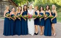 navy blue bridesmaid dresses | Violet Dress UK