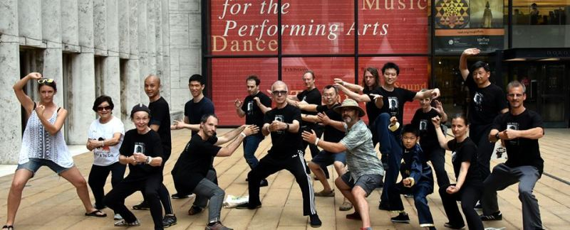 Tony Visconti (front center) and his Tai Chi brothers and sisters