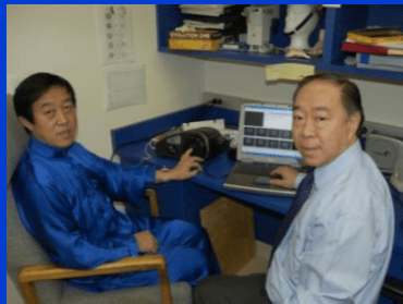Grandmaster Chen and Dr. Shin Lin used Gas Discharge Visualization device.