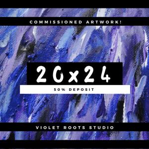 20x24 Custom Canvas Panel   Abstract Art - DEPOSIT