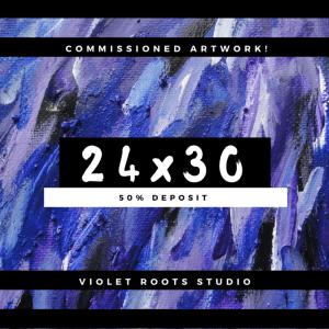24x30 Custom Canvas Panel   Abstract Art - DEPOSIT
