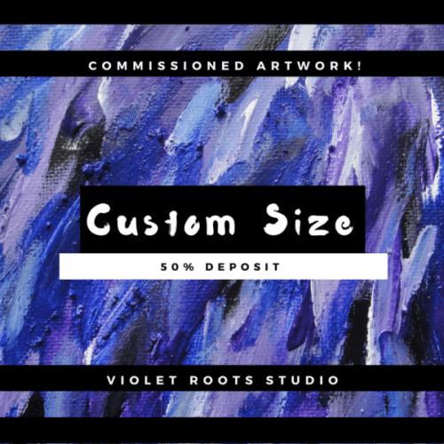 Custom Size Canvas Panel   Abstract Art - DEPOSIT
