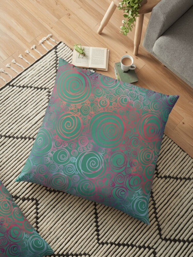 Shop Violet Roots - Abstract Floor Pillow - After the Bloom