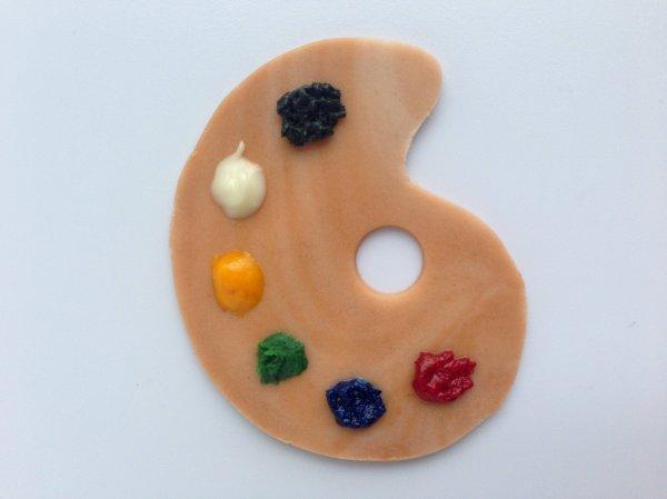 Paint Palette Cupcake Topper