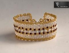 Bransoletka handmade złota