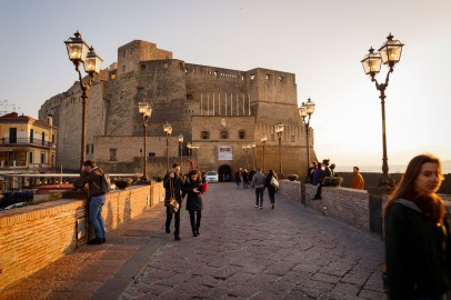 Castel dell'Ovo castle, Naples, Italy.