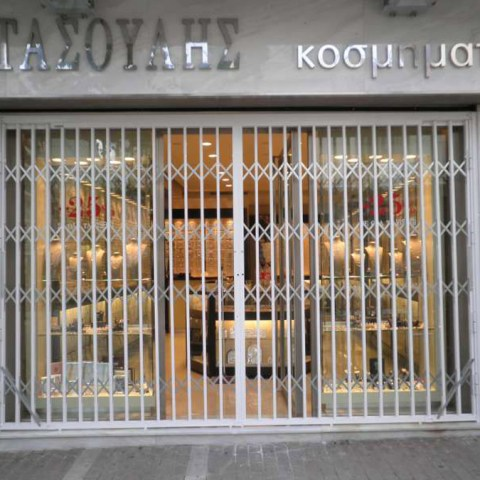 Folding safety from galvanized steel, aluminum coated Type-100 in shop front 3