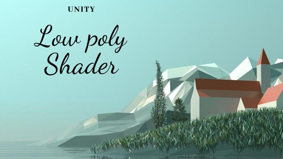 Unity low poly shader banner