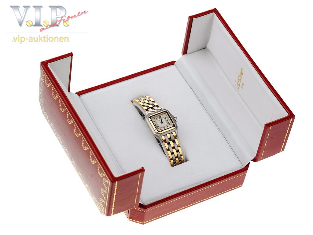 Panthere De Cartier Uhr Damenuhr Stahl 18k Gold Lady Watch
