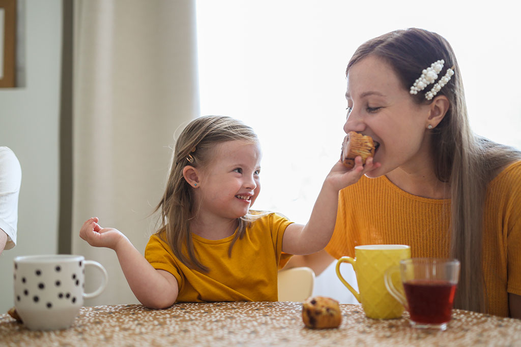 Most Popular Stock Photo Ideas - Eating Breakfast with Daughter