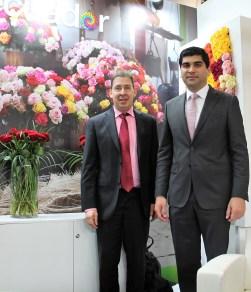 V.I.P. Reise Magazin Chefredakteur Dirk Jacobs unterhielt sich mit Ecuadors Vize-Präsident Otto Sonnenholzner vor der Fruit Logistica