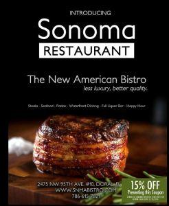 Sonoma Restaurant Coupon