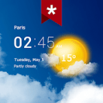 Transparent clock weather Ad-free Paid Subscribed Mod APK 4.00.1.1