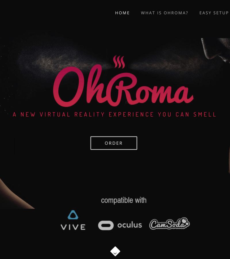 OhRoma Mask от CamSoda для VR , который позволяет клиенту чувствовать запахи
