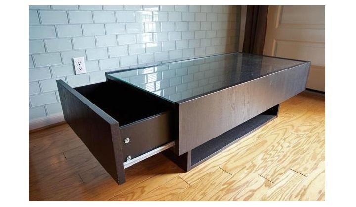 [ikea glass coffee table]