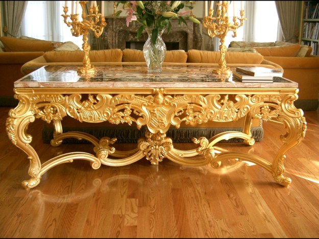 beautiful gold coffee table | coffee tables