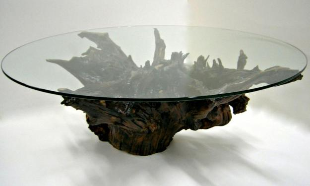 cool root base coffee table | coffee tables