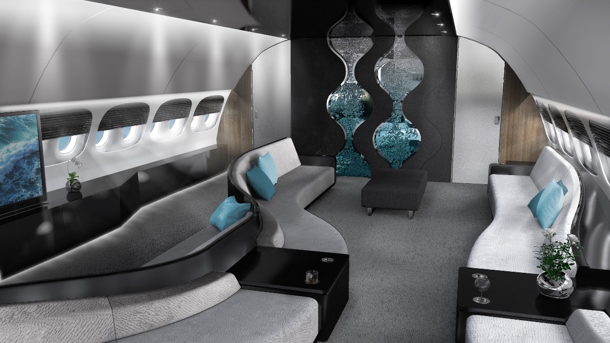 Private jet interior furnished like a vintage train aviation - House Interior Designing