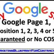 Guaranteed Google Page 1 Ranking Position 1 to 5