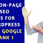 Live SEO - Google Rank 1 with 100% proof   Learn ON-Page in One Video by Okey Ravi